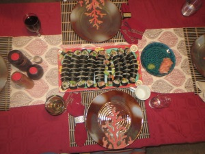 Heck of a spread. Sushi and photo - Jen Newell