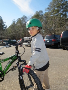 Shael. Getting ready to ride.