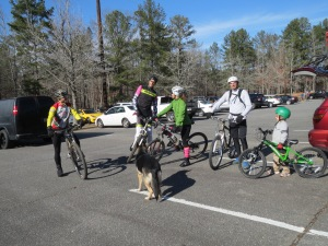 The crew in the parking lot at Oak Mountain.