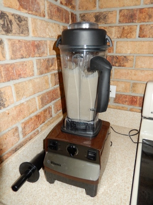 Here is my 40th birthday present from my mom. This Vitamix rocks, but my old cheaper blender did the job for years.