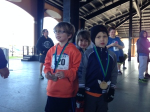 The 10 and under podium. Photo: Brandon Runyun