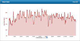 Bike graph. The peaks are hill repeats. Soft sand with slight incline is the best I can do around here.